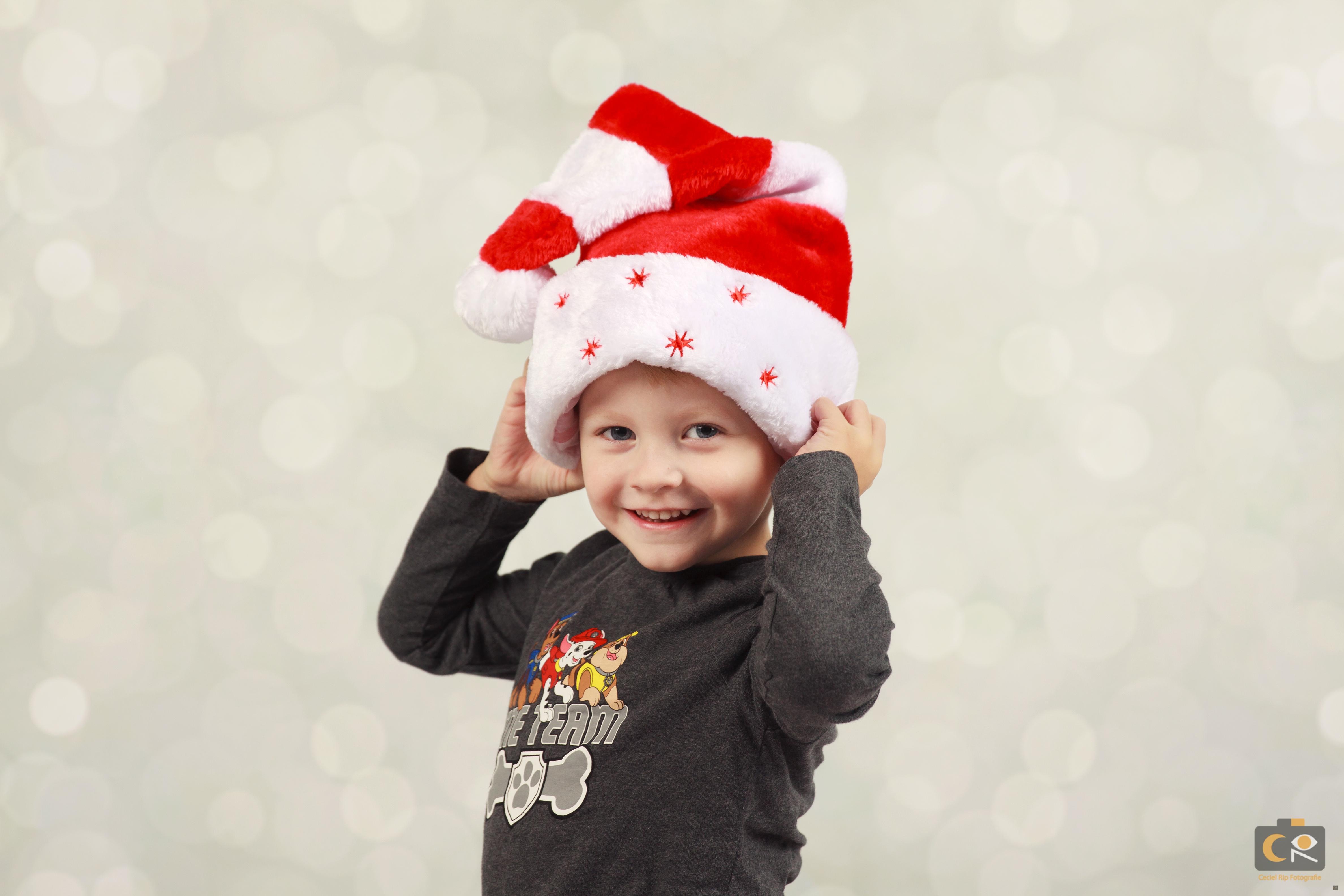 kerst fotoshoot voor kinderen, Ceciel rip fotografie